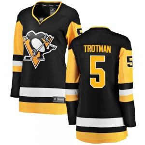 Zach Trotman Pittsburgh Penguins Fanatics Branded Women's Breakaway Home Jersey (Black)