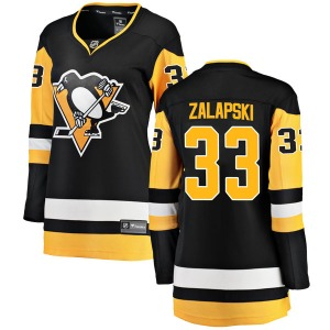 Zarley Zalapski Pittsburgh Penguins Fanatics Branded Women's Breakaway Home Jersey (Black)