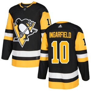 Earl Ingarfield Pittsburgh Penguins Adidas Authentic Home Jersey (Black)