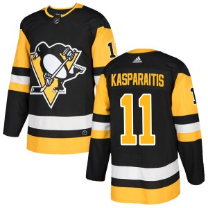 Darius Kasparaitis Pittsburgh Penguins Adidas Authentic Home Jersey (Black)