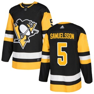 Ulf Samuelsson Pittsburgh Penguins Adidas Authentic Home Jersey (Black)
