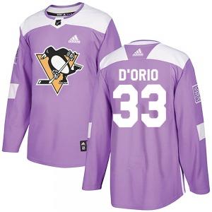 Alex Dorio Pittsburgh Penguins Adidas Youth Authentic Alex DOrio Fights Cancer Practice Jersey (Purple)
