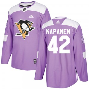 Kasperi Kapanen Pittsburgh Penguins Adidas Youth Authentic Fights Cancer Practice Jersey (Purple)