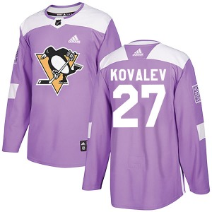 Alex Kovalev Pittsburgh Penguins Adidas Youth Authentic Fights Cancer Practice Jersey (Purple)