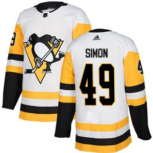 Dominik Simon Pittsburgh Penguins Adidas Authentic Away Jersey (White)