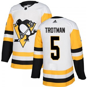 Zach Trotman Pittsburgh Penguins Adidas Authentic Away Jersey (White)