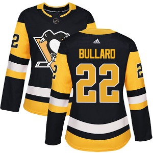 Mike Bullard Pittsburgh Penguins Adidas Women's Authentic Home Jersey (Black)