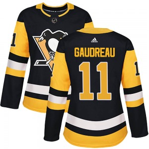 Frederick Gaudreau Pittsburgh Penguins Adidas Women's Authentic Home Jersey (Black)