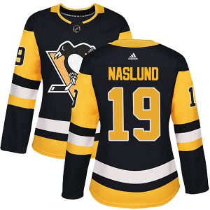 Markus Naslund Pittsburgh Penguins Adidas Women's Authentic Home Jersey (Black)