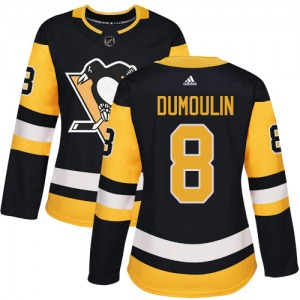 Brian Dumoulin Pittsburgh Penguins Adidas Women's Authentic Home Jersey (Black)