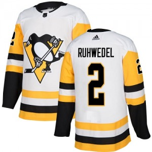 Chad Ruhwedel Pittsburgh Penguins Adidas Women's Authentic Away Jersey (White)