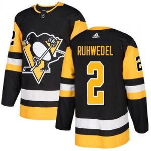 Chad Ruhwedel Pittsburgh Penguins Adidas Youth Authentic Home Jersey (Black)