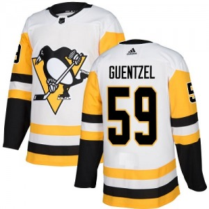 Jake Guentzel Pittsburgh Penguins Adidas Women's Authentic Away Jersey (White)