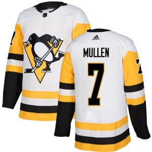 Joe Mullen Pittsburgh Penguins Adidas Youth Authentic Away Jersey (White)